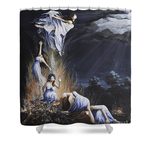 Journey Into Self Female Shower Curtain