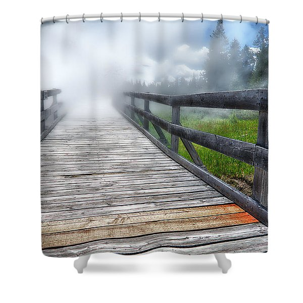 Journey Into The Unknown Shower Curtain