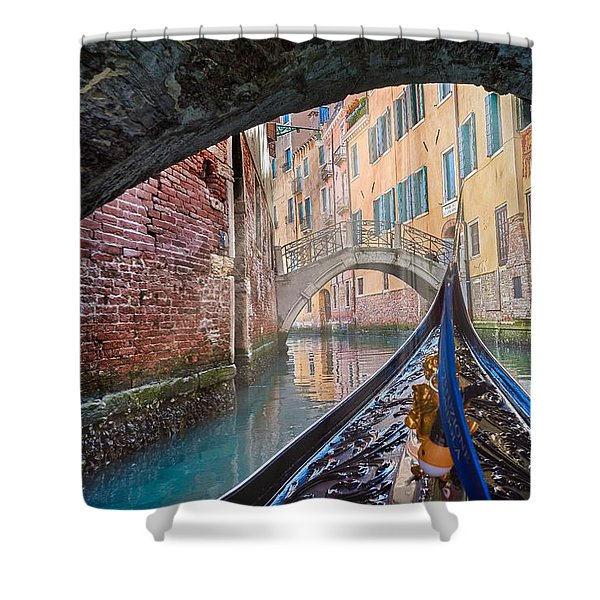 Journey Through Dreams - A Ride On The Canals Of Venice, Italy Shower Curtain