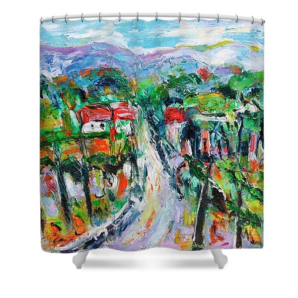Journey Through The Vines Shower Curtain
