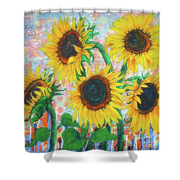 Joy Of Sunflowers Desiring Shower Curtain