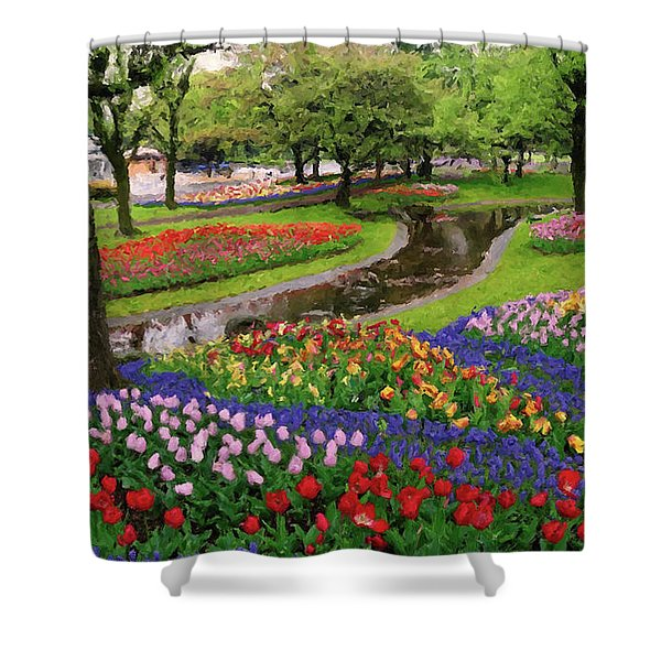 Shower Curtain featuring the digital art Jubilee  by Rosario Piazza