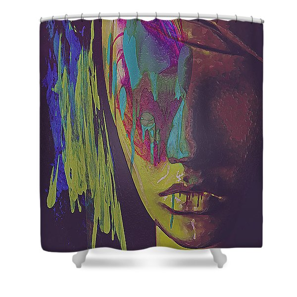Judgement Figurative Abstract Shower Curtain