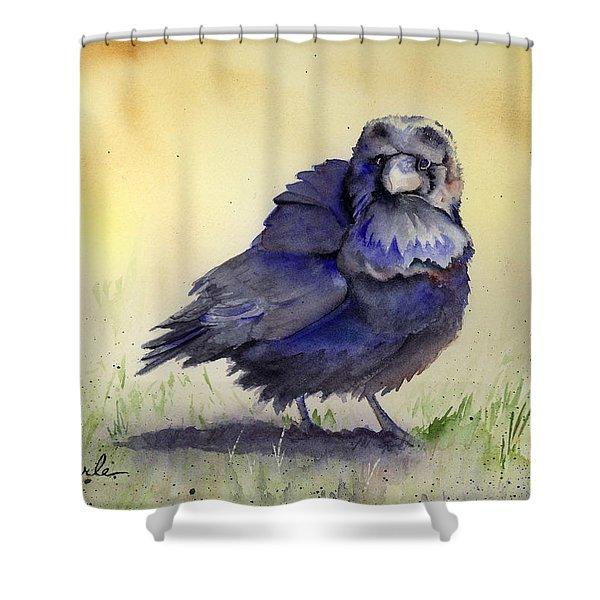 Judy's Raven Shower Curtain