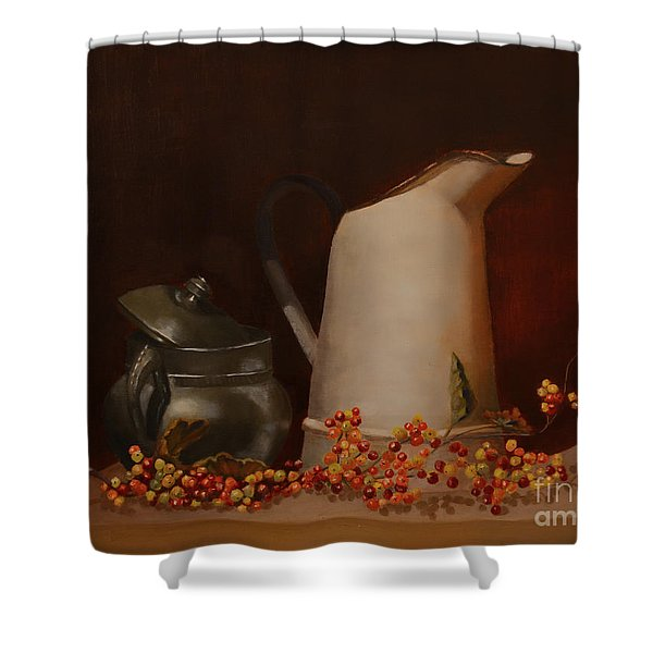 Shower Curtain featuring the painting Jugs by Genevieve Brown