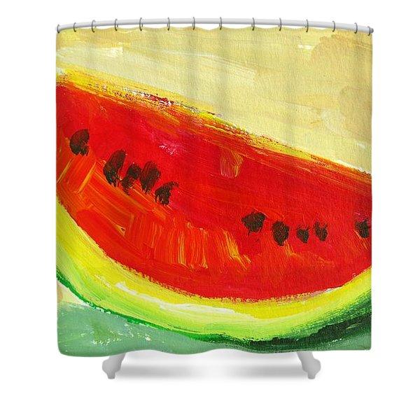 Juicy Watermelon - Kitchen Decor Modern Art Shower Curtain
