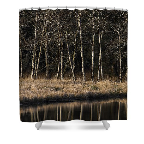 Julia Butler Hansen Refuge For The Columbian White-tailed Deer Shower Curtain