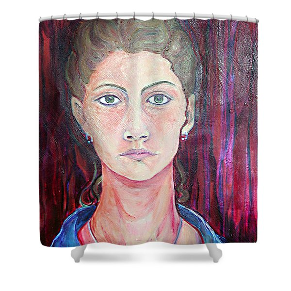 Julie Self Portrait Shower Curtain