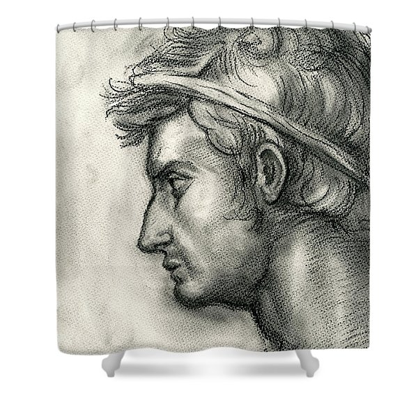 Julius Caesar Study Shower Curtain