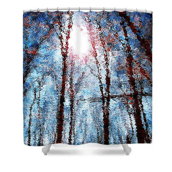 Jumbled Waters Shower Curtain