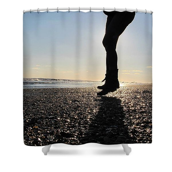 Jumping In The Sand Shower Curtain