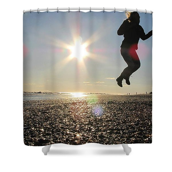 Jumping In The Sun Shower Curtain