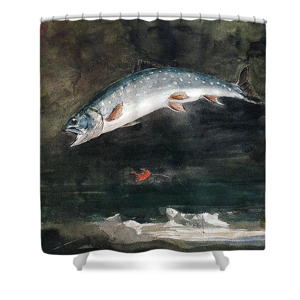 Jumping Trout Shower Curtain