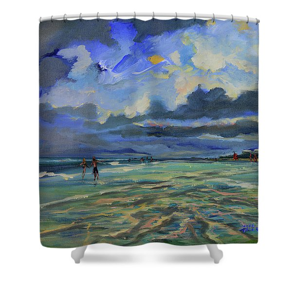 June Afternoon Tidepool Shower Curtain