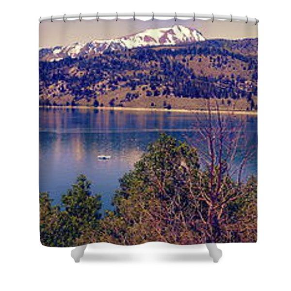 June Lake Panorama Shower Curtain