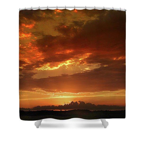 June Sunset Shower Curtain