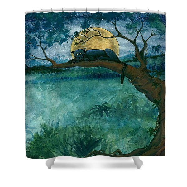 Jungle Panther Shower Curtain