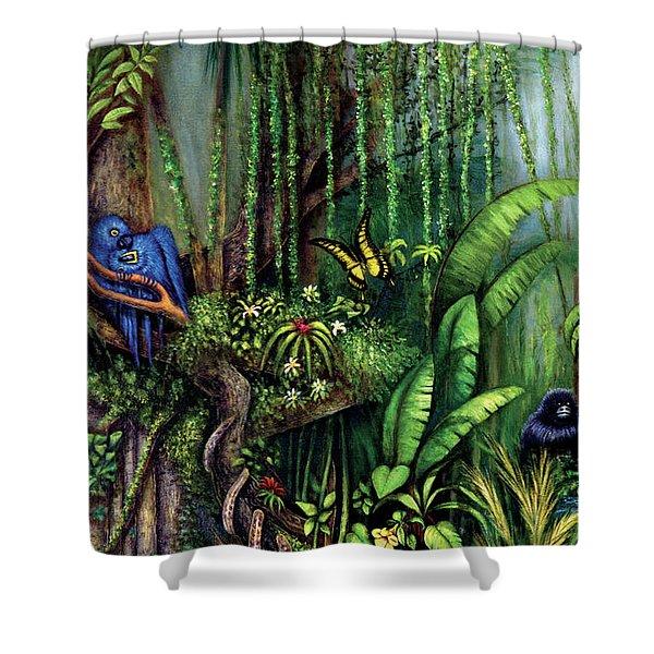 Jungle Talk Shower Curtain