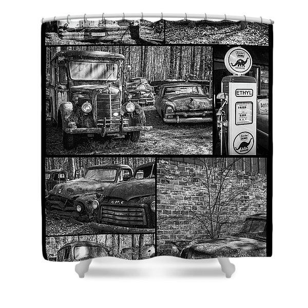 Junk Yard Cars Shower Curtain