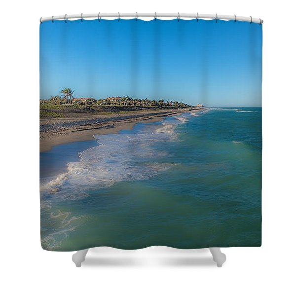Shower Curtain featuring the photograph Juno Beach by Jody Lane
