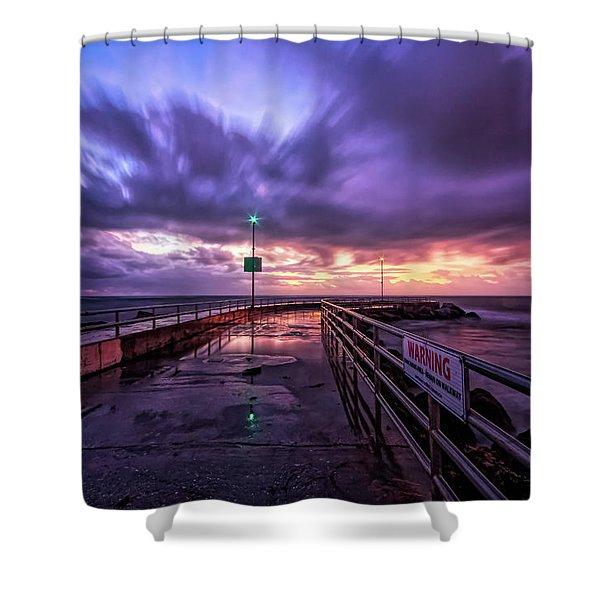 Jupiter Inlet Jetty Shower Curtain