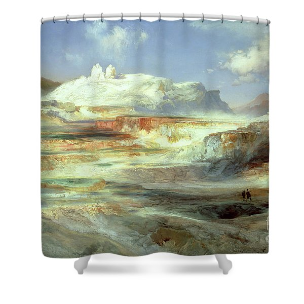 Jupiter Terrace Shower Curtain