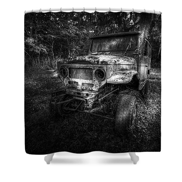 Jurassic Four Wheeler Shower Curtain