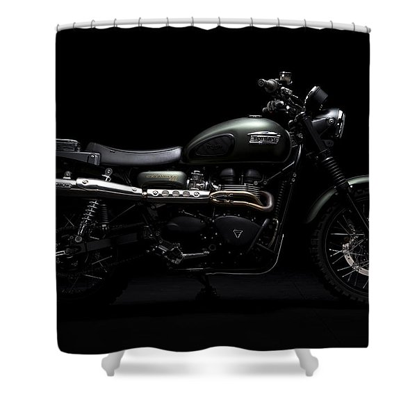 Jurassic Scrambler Shower Curtain