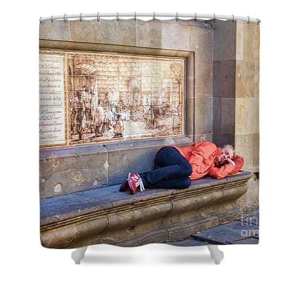 Just A Nap  Barcelona Spain  Shower Curtain