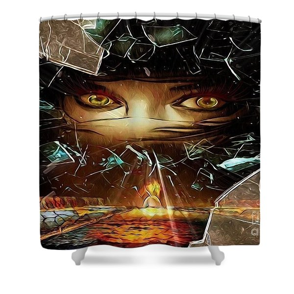 Just A Split Second Shower Curtain