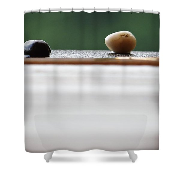 Just A Stones Throw Away Shower Curtain