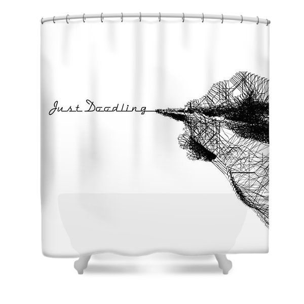 Shower Curtain featuring the digital art Just Doodling by ISAW Company