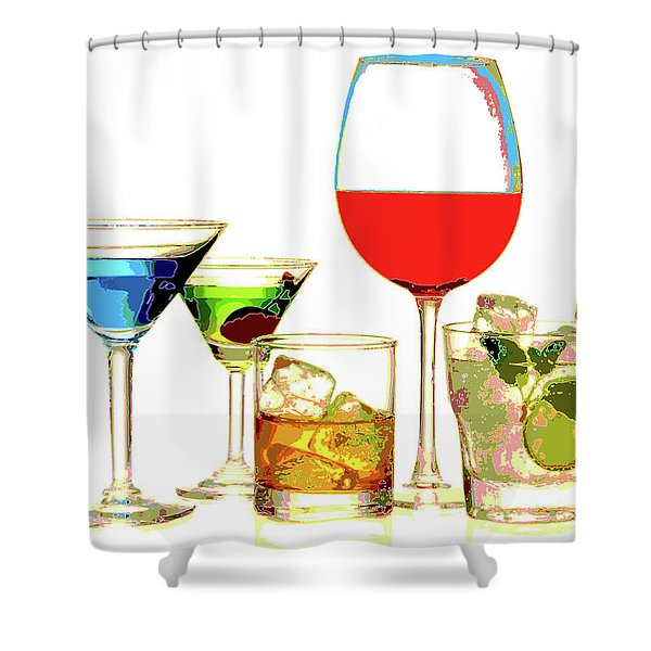 Just Give Me A Drink Shower Curtain