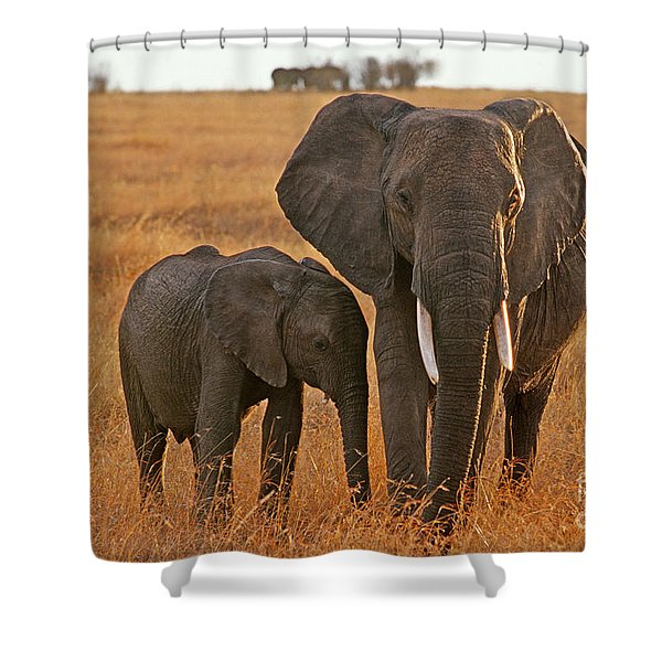 Just Mom And Me Shower Curtain