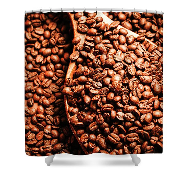 Just One Scoop At The Coffee Brew House  Shower Curtain