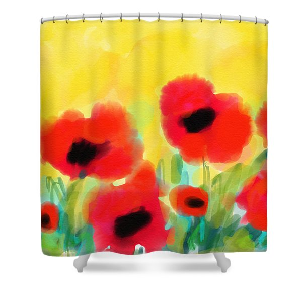 Just Poppies Shower Curtain
