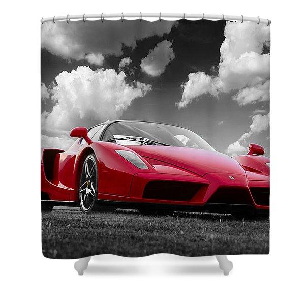 Just Red 1 2002 Enzo Ferrari Shower Curtain