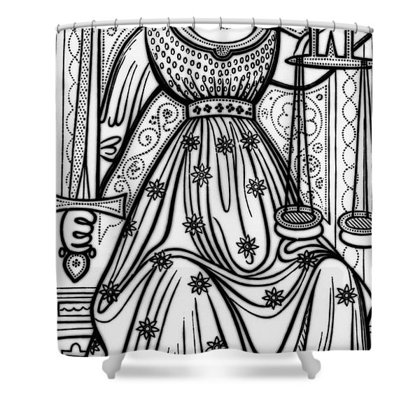 Justice Tarot Card Shower Curtain