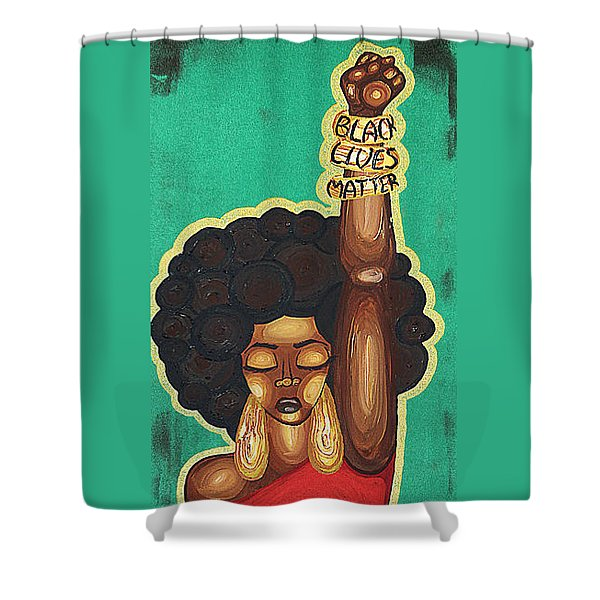 Justice Wanted Shower Curtain
