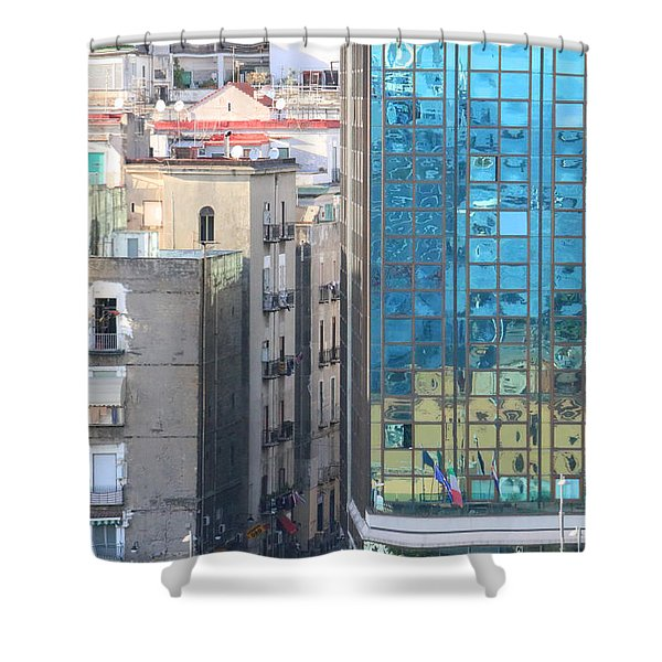 Juxtaposition One Naples Shower Curtain