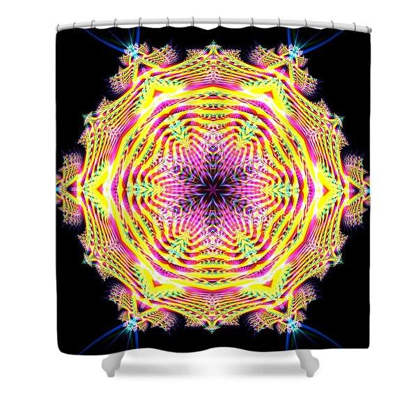 Shower Curtain featuring the digital art Jyoti Ahau 112 by Robert Thalmeier