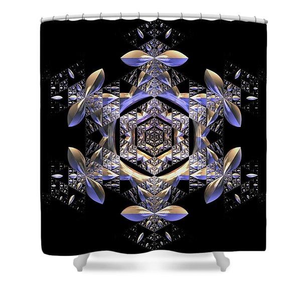 Shower Curtain featuring the digital art Jyoti Ahau 198 by Robert Thalmeier