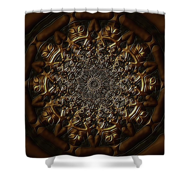 Shower Curtain featuring the digital art Jyoti Ahau 209 by Robert Thalmeier
