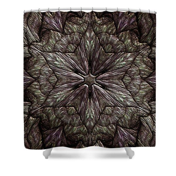 Shower Curtain featuring the digital art Jyoti Ahau 220 by Robert Thalmeier