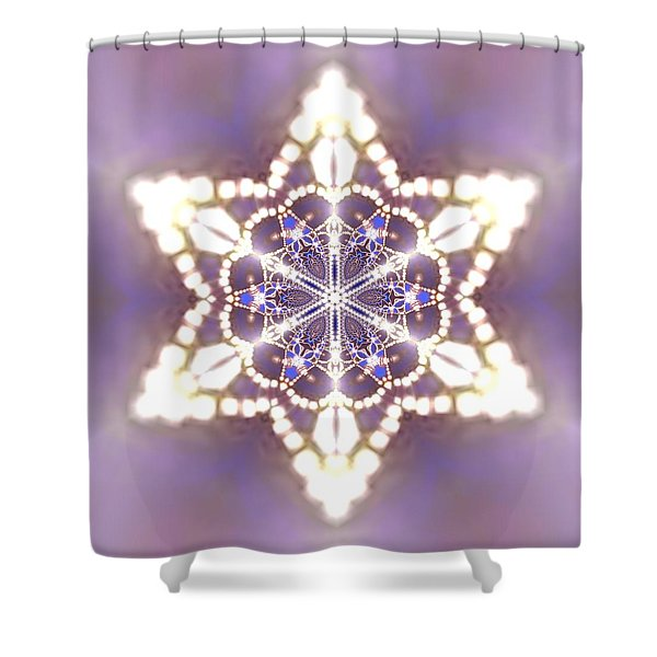 Shower Curtain featuring the digital art Jyoti Ahau 27 by Robert Thalmeier
