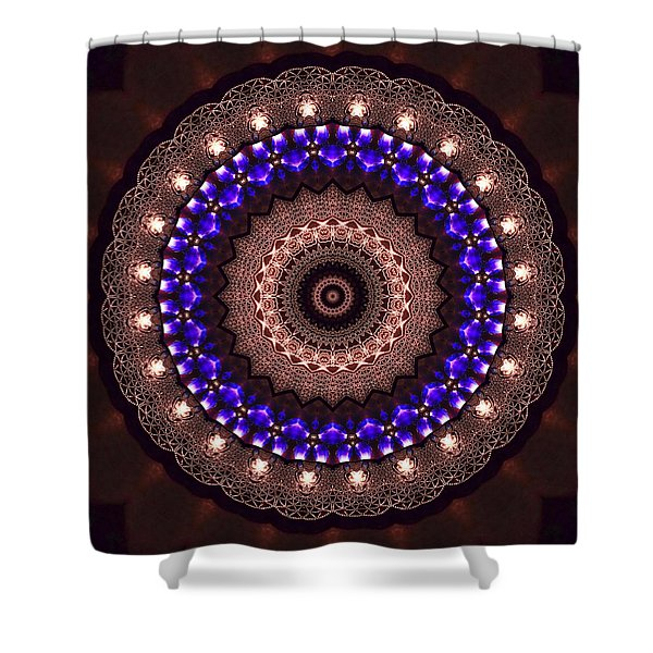 Shower Curtain featuring the digital art Jyoti Ahau 38 by Robert Thalmeier