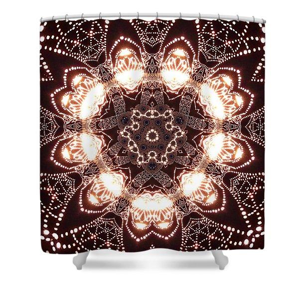 Shower Curtain featuring the digital art Jyoti Ahau 45 by Robert Thalmeier