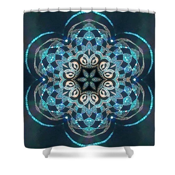 Shower Curtain featuring the digital art Jyoti Ahau 53 by Robert Thalmeier