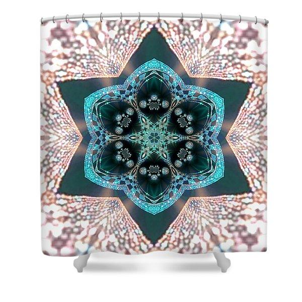 Shower Curtain featuring the digital art Jyoti Ahau 55 by Robert Thalmeier