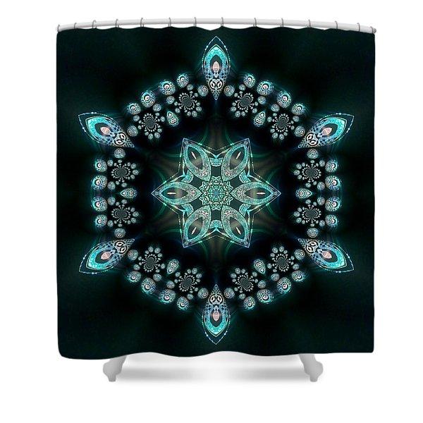 Shower Curtain featuring the digital art Jyoti Ahau 58 by Robert Thalmeier